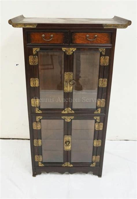 glass display cabinet hardware asian display cabinet with brass hardware and beveled glass