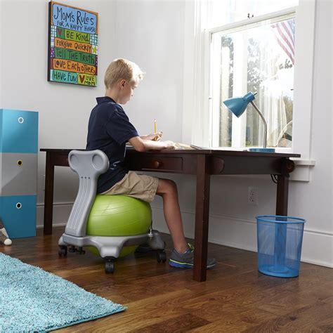 amazon com gaiam kids balance ball chair blue green