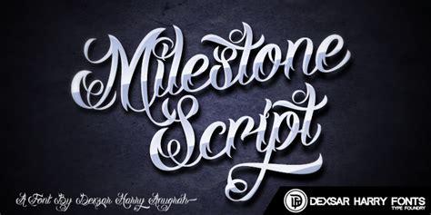 Dhf Milestone Script Font