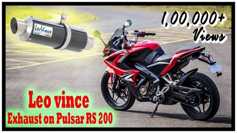 Bike Exhaust Modification by Bajaj Pulsar Rs 200 With Leo Vince Aftermarket Exhaust