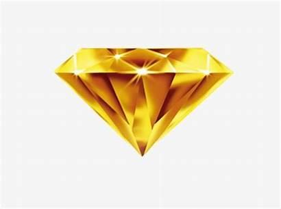 Diamond Golden Clipart Triangle Mong Yellow Diamonds