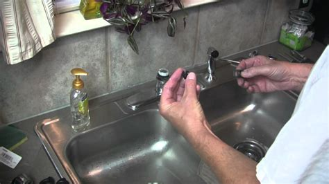 how to remove kitchen sink faucet moen kitchen faucet broken lever handle repair 8869