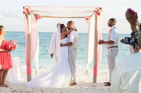 bahamas beach wedding locations ferry boat guests