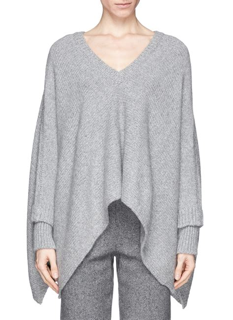 poncho sweater sale valentino knit poncho sweater on sale grey