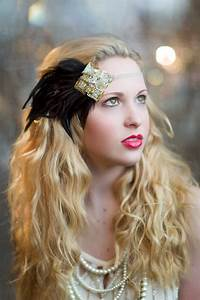 Gold & Silver Art Deco Feather Headband 1920s by ...