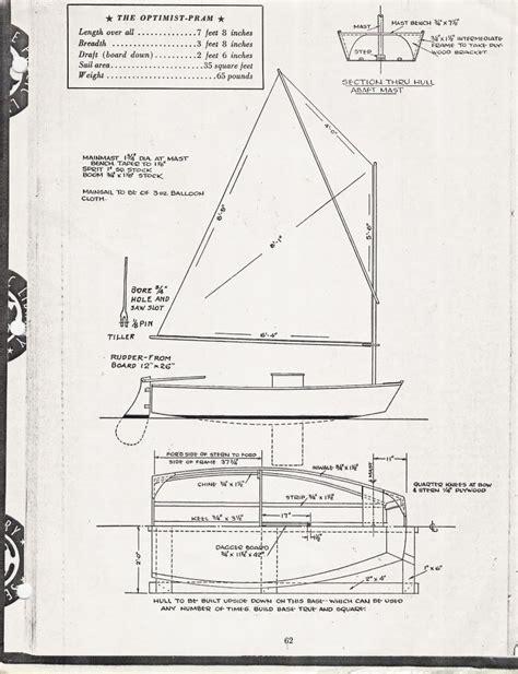 Dessin Bateau Laser by Optimist Pram Plans And Building Questions Canoe Sailing