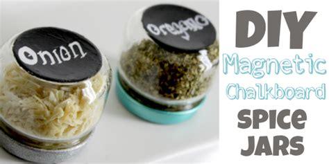 Diy Magnetic Chalkboard Spice Jars