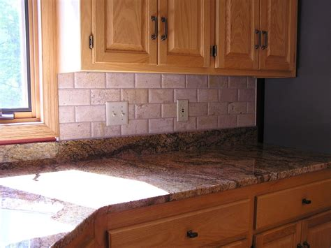 Decorating Chic Travertine Tile Kitchen For The Beauty Of