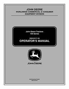 John Deere La105 User Manual