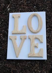 how to paint wooden letters on canvas With wooden letters on canvas