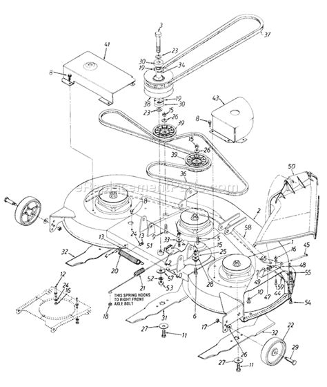 Wire Diagram Huskee Mtd by Huskee Mower 42815x60a Parts Diagram