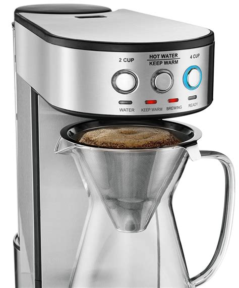It comes with a pre infusion function. Gourmia GCM4900 Automatic Pour Over Coffee Maker Best Price Review