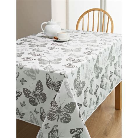 PVC Wipe Clean Tablecloth   Butterfly   Kitchen   B&M