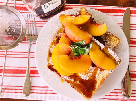 Peach French Toast Recipe Live Love Laugh Food