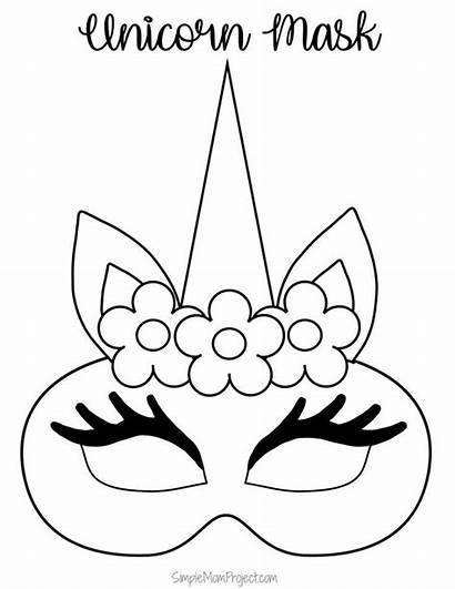 Unicorn Mask Printable Coloring Templates Printables