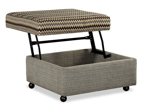 lift top storage ottoman customizable lift top storage ottoman with casters by