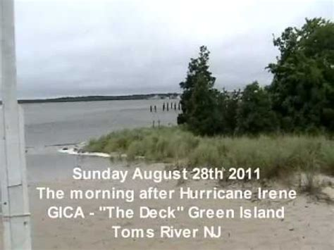 green island toms river nj  morning  hurricane
