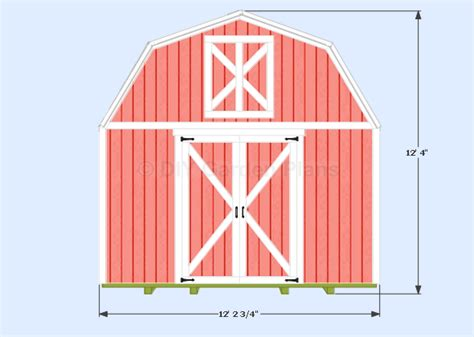 gambrel barn plans front view xshedplan shed plans