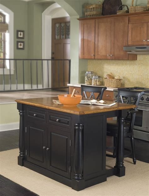 kitchen stools for island home styles monarch kitchen island two stools 6137