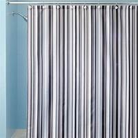 striped shower curtains Black And Grey Striped Shower Curtain   Curtain Menzilperde.Net