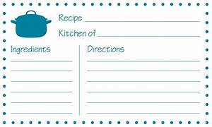 recipe card template tryprodermagenixorg With template for recipes in word