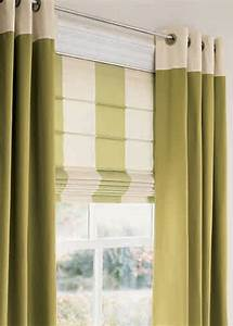 Layered window treatments can cut heating costs for Curtains that look like roman shades