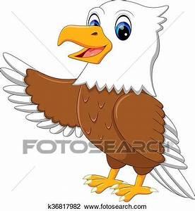 Clipart of cute eagle k36817982 - Search Clip Art ...