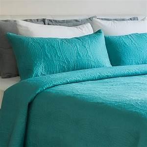 mezzati, bedspread, coverlet, set, blue