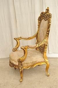Barock sessel paar holzschnitzereien vergoldet antik im hof barock sessel barock sessel for Barock sessel