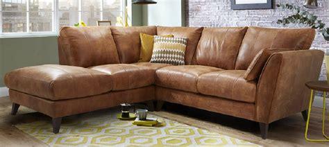Vintage Leather Corner Sofa Bed