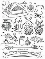Camp sketch template