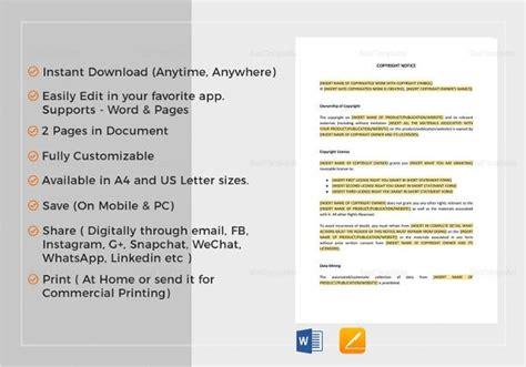 copyright notices    premium templates