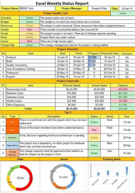 Excel Weekly Status Report Template