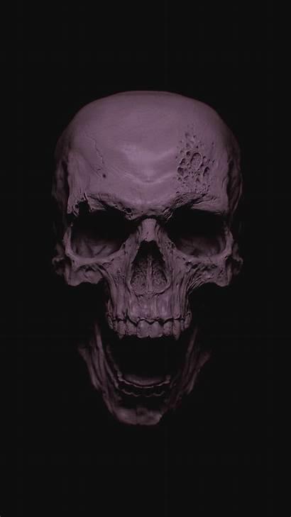 Skull Phone Wallpapers Grey Skulls Iphone Screen