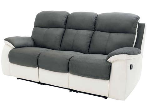 garantie canapé conforama canapé fixe 3 places 2 relaxation manuel en tissu