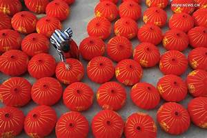 Red lanterns made for upcoming National Day and Mid-Autumn ...