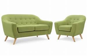 Ensemble Salon Scandinave : salon scandinave 2 places fauteuil vert pi ce vivre ~ Teatrodelosmanantiales.com Idées de Décoration