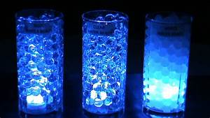 3LED Submersible Lights Blue & BLYSS® Water Beads - YouTube