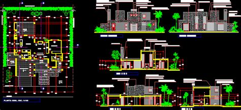 minimalist house dwg section  autocad designs cad