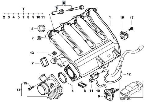 original parts for e46 320d m47n touring engine intake