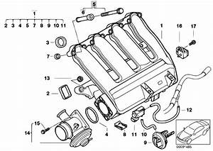 Original Parts For E46 320td M47n Compact    Engine   Intake Manifold Agr With Flap Control
