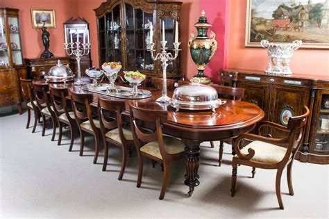antique dining room sets for vintage mahogany dining table with 14 chairs at 9022
