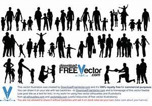 Family Silhouette Vector File - Vecteezy.com