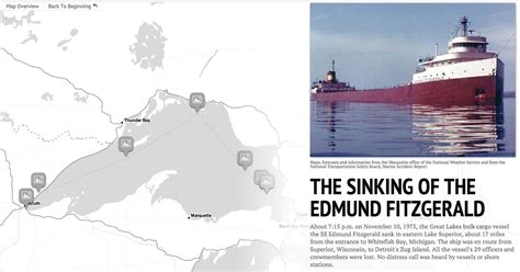 where did the edmund fitzgerald sank the sinking of the edmund fitzgerald a detroit news storymap