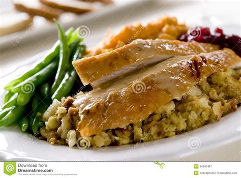 thanksgiving dinner stock image image  gravy