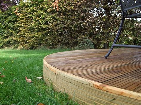 curved decking  images curved deck terraced