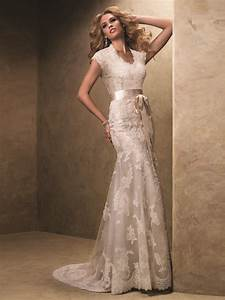 cap sleeved slim flare bridal gown by maggie sottero With maggie sottero used wedding dresses