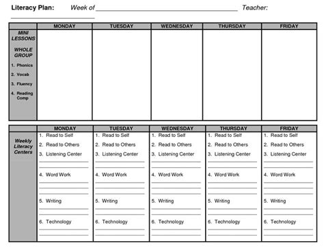 reading planning template guided reading lesson plan template cyberuse