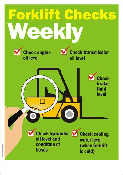 safety poster forklift safety weekly checklist safety