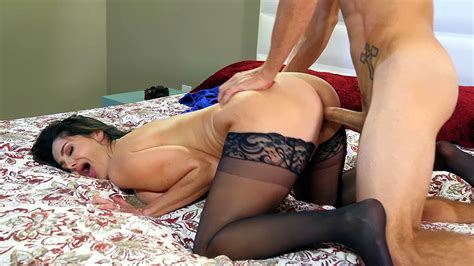 Hot Mom In Black Stockings Tries Incest Sex With Xxx